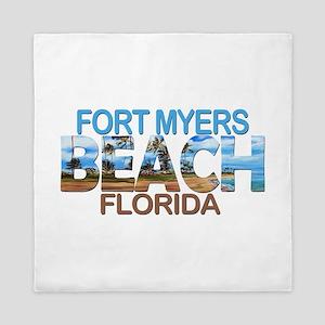 Summer fort myers- florida Queen Duvet