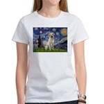 Starry Night Yellow Lab Women's T-Shirt