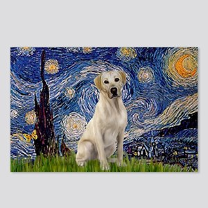 Starry Night Yellow Lab Postcards (Package of 8)