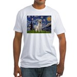 Starry Night Yellow Lab Fitted T-Shirt