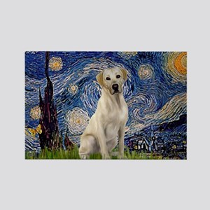 Starry Night Yellow Lab Rectangle Magnet