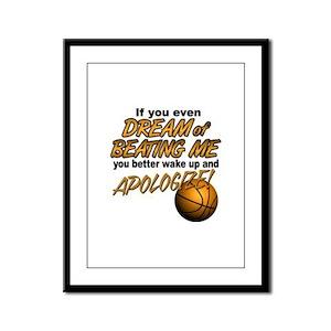 Basketball Dreaming Framed Panel Print