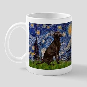 Starry Chocolate Lab Mug