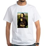 Mona & her Chocolate Lab White T-Shirt