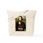 Mona & her Chocolate Lab Tote Bag