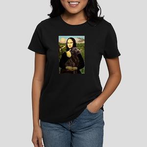 Mona & her Chocolate Lab Women's Dark T-Shirt