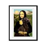 Mona & her Chocolate Lab Framed Panel Print