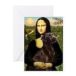 Mona & her Chocolate Lab Greeting Card