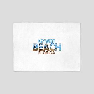 Summer key west- florida 5'x7'Area Rug