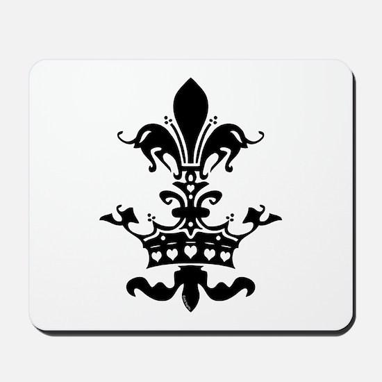 Fleur Crown hearts Mousepad
