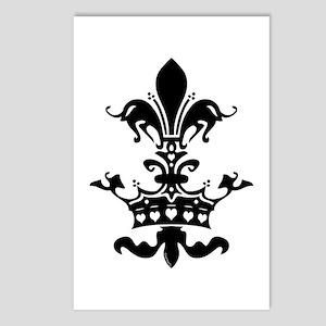 Fleur Crown hearts Postcards (Package of 8)