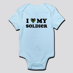 I Love My Soldier Infant Bodysuit