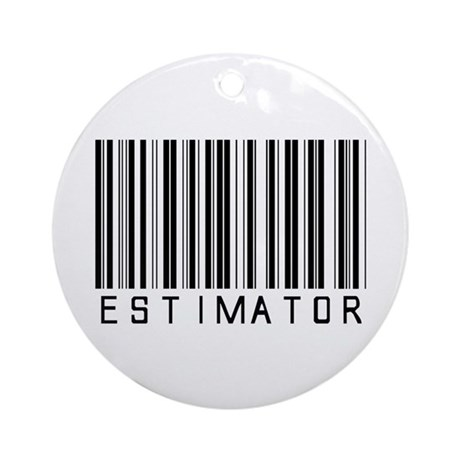 Estimator Bar Code Ornament (Round)