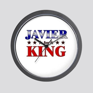 JAVIER for king Wall Clock
