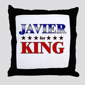 JAVIER for king Throw Pillow