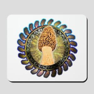 Psychedelic morel mushroom art Mousepad