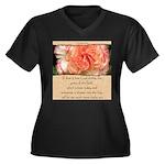 Mathew 6:30 Women's Plus Size V-Neck Dark T-Shirt