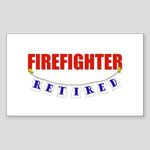 Retired Firefighter Rectangle Sticker