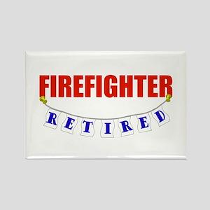 Retired Firefighter Rectangle Magnet