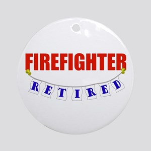 Retired Firefighter Ornament (Round)