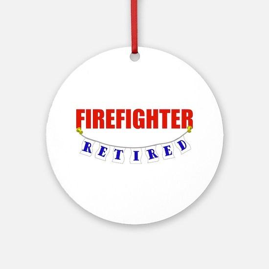 Retired Firefighter Ornament (Round)