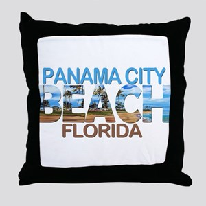 Summer panama city- florida Throw Pillow