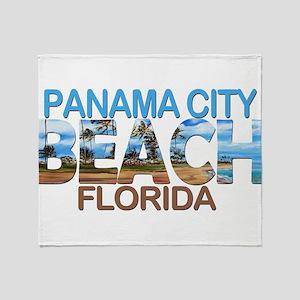 Summer panama city- florida Throw Blanket