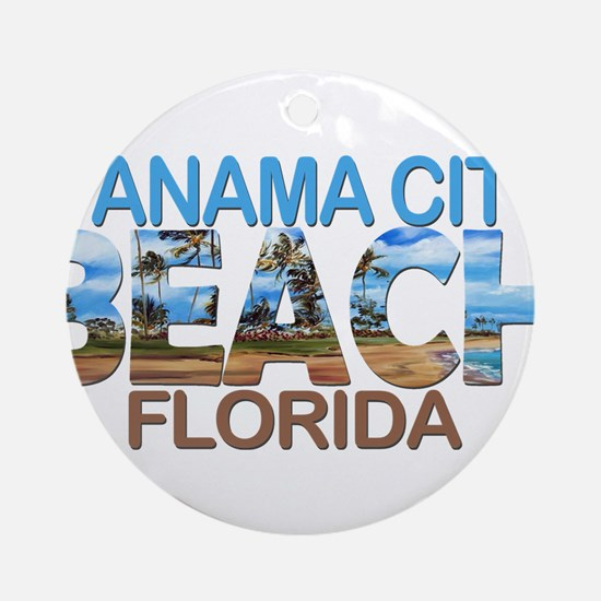 Summer panama city- florida Round Ornament