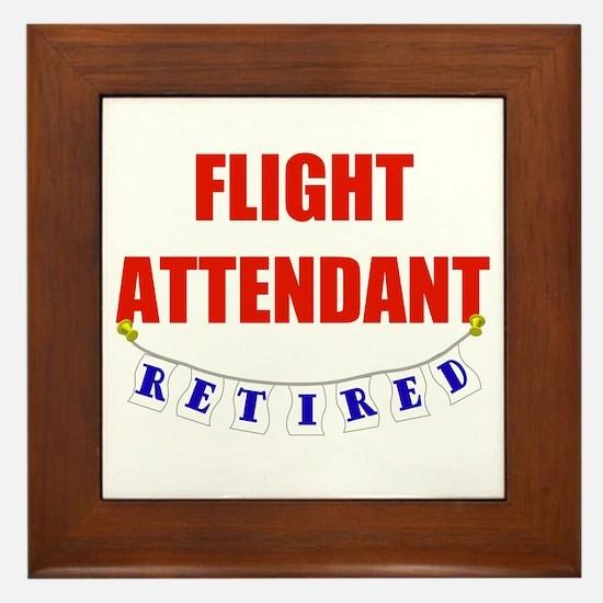 Retired Flight Attendant Framed Tile