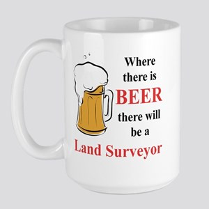 Land Surveyor Large Mug