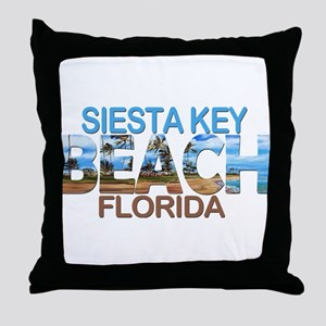 Summer siesta key- florida Throw Pillow