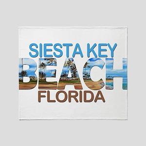 Summer siesta key- florida Throw Blanket
