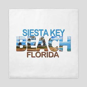 Summer siesta key- florida Queen Duvet