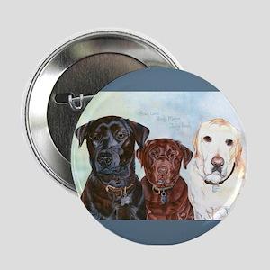 """Three Labrador Retrievers 2.25"""" Button"""
