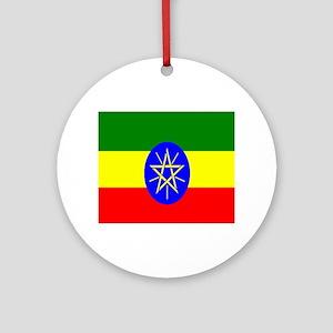 Flag of Ethiopia Round Ornament