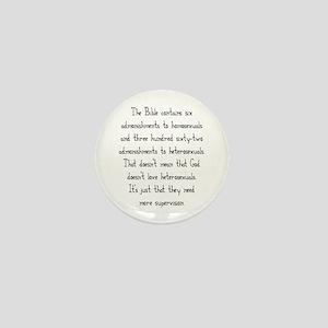 Admonishments Mini Button