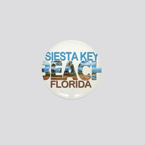 Summer siesta key- florida Mini Button