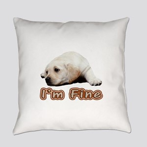 I'm Doing Fine Lab Everyday Pillow