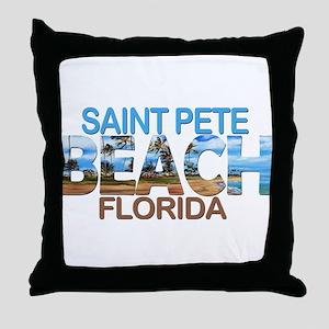 Summer saint pete- florida Throw Pillow