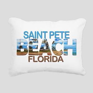 Summer saint pete- flori Rectangular Canvas Pillow