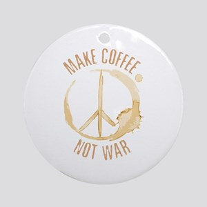 Make Coffee Ornament (Round)