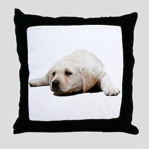 So Sad Lab Throw Pillow