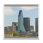 Dallas Skyline #1 Tile Coaster