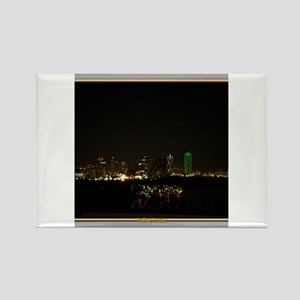 Dallas Skyline #5 Rectangle Magnet
