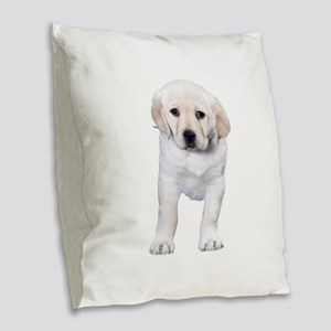 Loopy Lab Burlap Throw Pillow