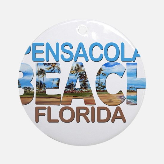 Summer pensacola- florida Round Ornament