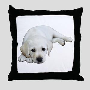 Sulking Lab Throw Pillow