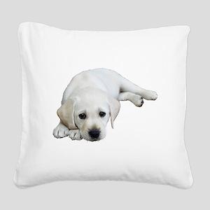 Sulking Lab Square Canvas Pillow