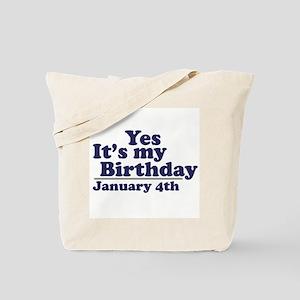 January 4th Birthday Tote Bag