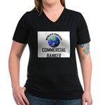 World's Coolest COMMERCIAL BANKER Women's V-Neck D